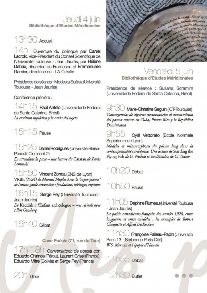 programme Ars poetica 1